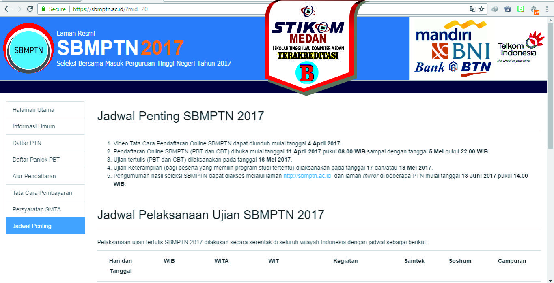 Jadwal Penting SBMPTN 2017